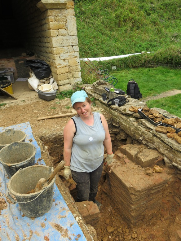 Claudine happy to be back in a trench digging