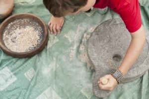 A roman hand quern very similar technique to an iron age quern