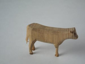 Wooden animal from the collection at Erddig, Wrexham