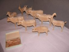 Wooden animals for Noah's Ark, from Felbrigg, Norfolk